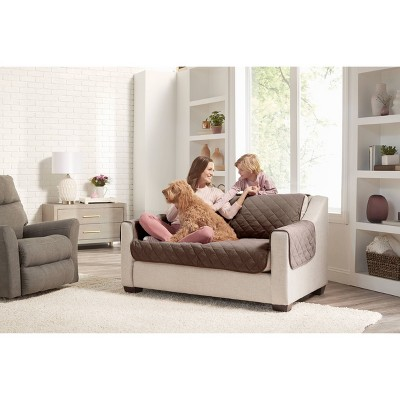 Reversible Loveseat Furniture Protector with Arms - Sure Fit