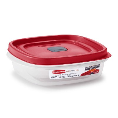 Rubbermaid 6pc Food Storage Container Set (3 containers, 3 lids)