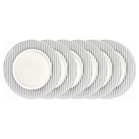 "Certified International® Elegance Dinner Plates Silver - 10.5""x10.5"" Set of 6 - image 1 of 1"