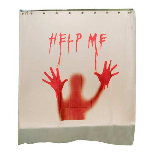 Halloween Help Me Bloody Shower Curtain Target