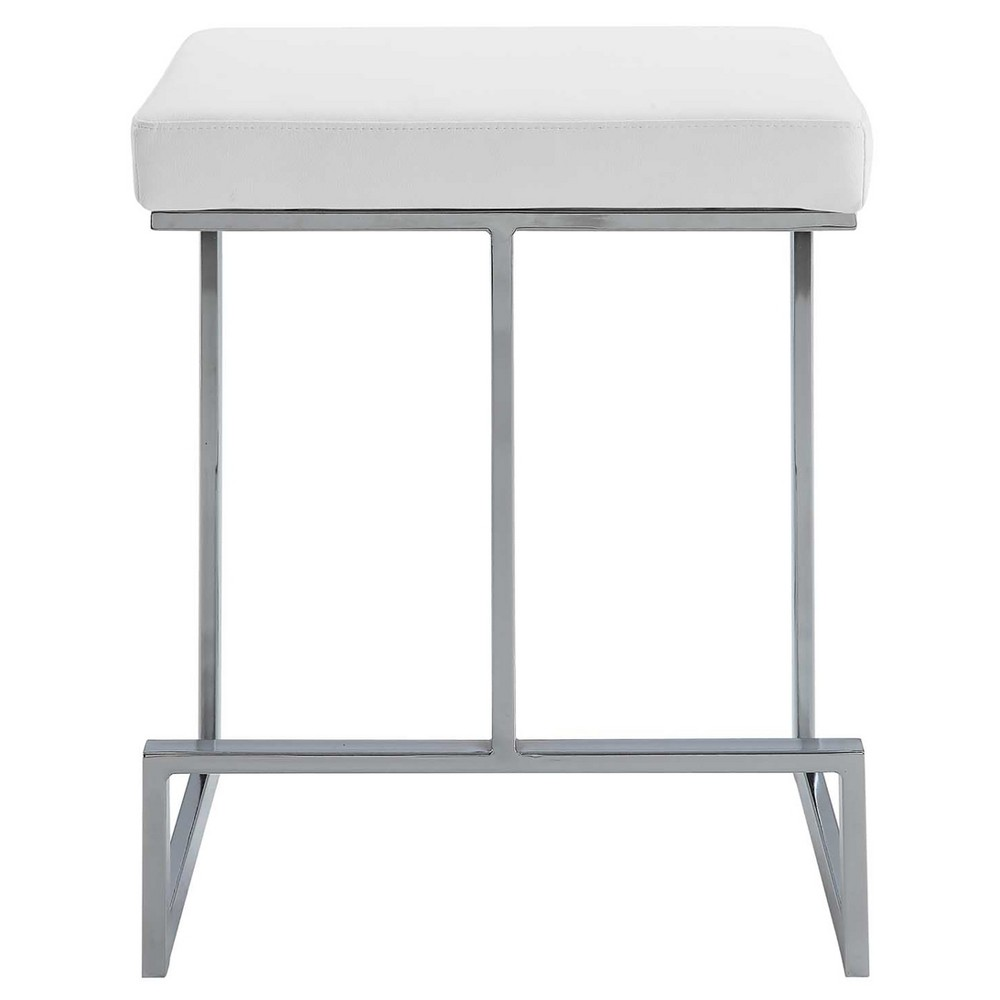 """Image of """"24"""""""" Lumi Cunter Stool White/Chrome - Carolina Chair and Table"""""""