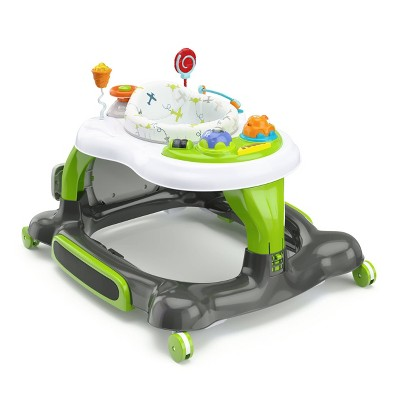 Storkcraft 3-in-1 Activity Walker and Rocker with Jumping Board and Feeding Tray - Green