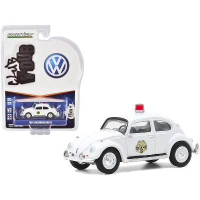 "1964 Volkswagen Beetle White ""Scottsboro Police Department"" (Scottsboro, Alabama) ""Club Vee V-Dub"" Series 11 1/64 Diecast Model Car by Greenlight"