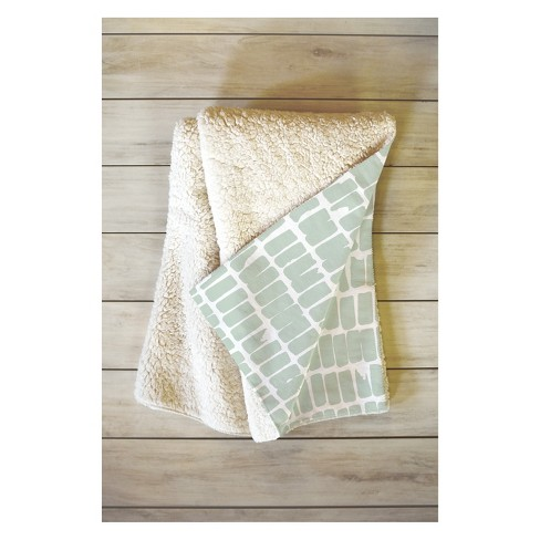 50''x60'' Iveta Abolina Cobbler Square Sage Throw Blanket Green - Deny Designs - image 1 of 4