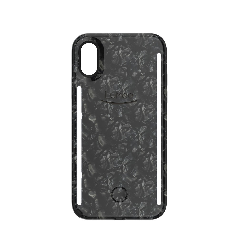 LuMee Apple iPhone X/XS Duo Case - Pearl Black