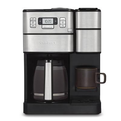 Cuisinart Combo 12 Cup and Single-Serve Grind & Brew Coffee Center - SS and Black - SS-GB1