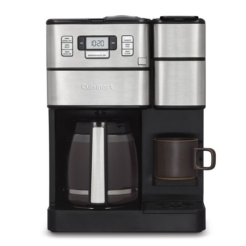 Cuisinart Combo 12 Cup and Single-Serve Grind & Brew Coffee Center - SS and Black - SS-GB1 - image 1 of 4