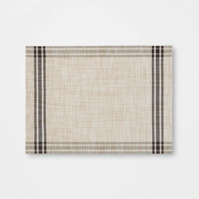 Plaid Border Placemat Brown - Threshold™