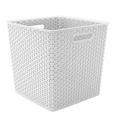 Cube Storage Basket - White - Room Essentials™
