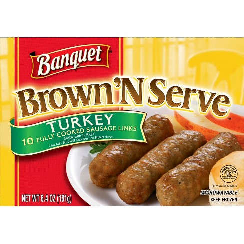 Banquet Frozen Brown'N Serve Frozen Turkey Links - 6.4oz - image 1 of 1
