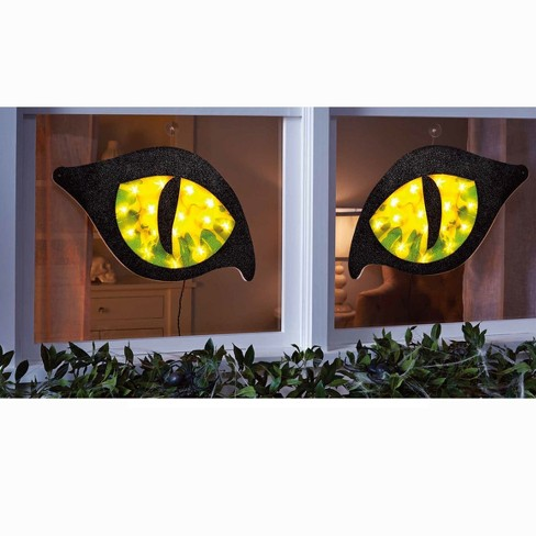 28in halloween lighted green cat eyes hyde and eek boutique target