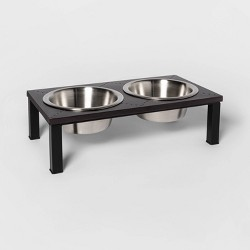 Airplane Flat Rivet Double Diner Dog Bowl - Boots & Barkley™