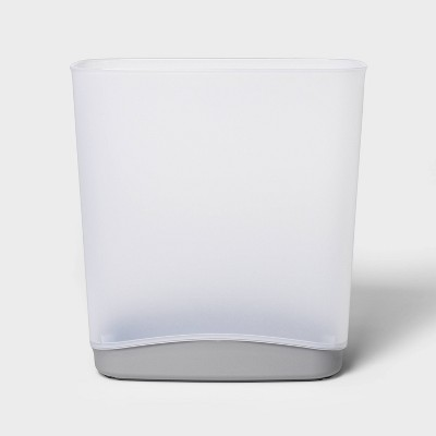 3.3gal Wastebasket with Colored Base Gray - Room Essentials™