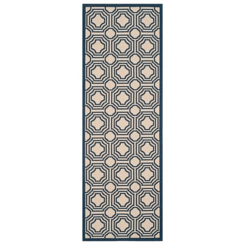 Hamina Patio Rug - Beige / Navy - Safavieh® - image 1 of 1