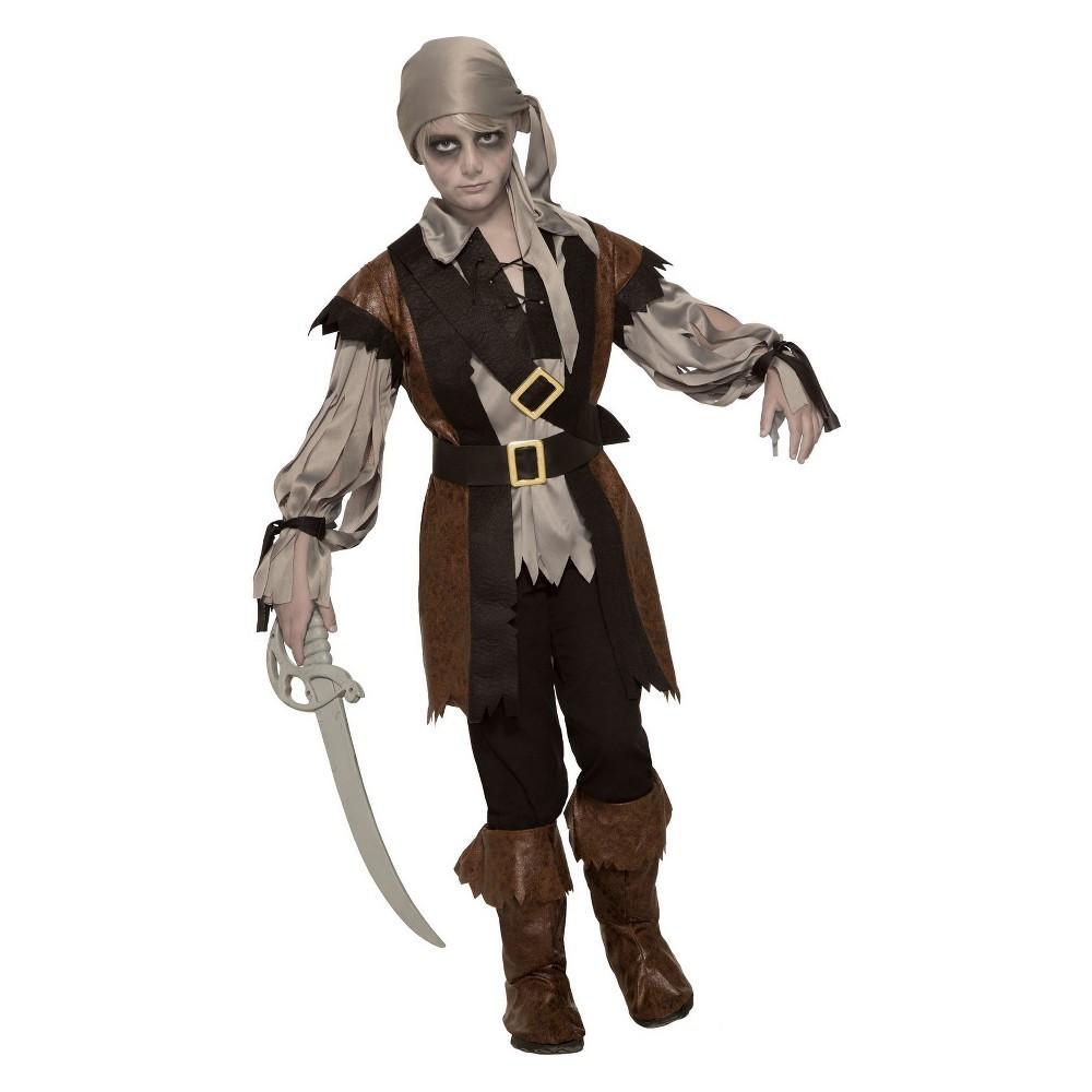 Kids' Zombie Pirate Boy Halloween Costume S, Multicolored
