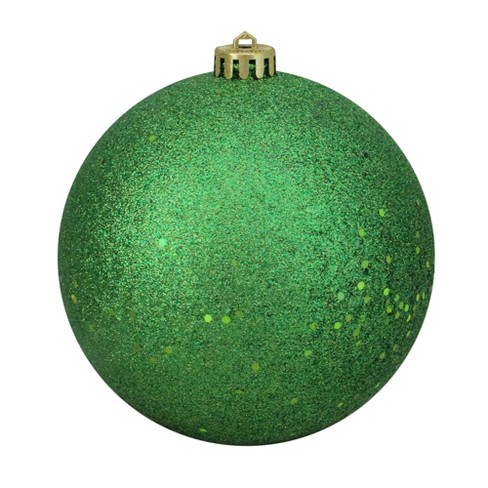 Christmas Ball Ornaments.Northlight 6 Shatterproof Holographic Glitter Christmas Ball Ornament Green