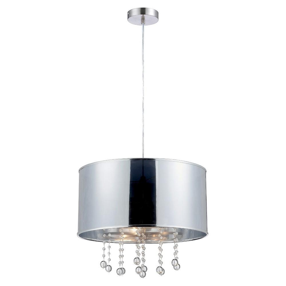 Lite Source Riviera Pendant Ceiling Light - Silver