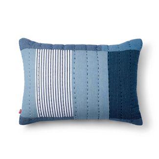 """14""""x20"""" Quilted Patchwork Lumbar Throw Pillow Blue - Levi's® x Target"""