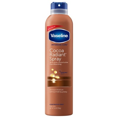 Body Lotions: Vaseline Intensive Care Cocoa Radiant Spray