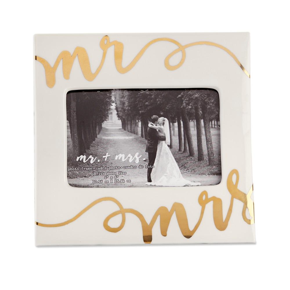 Kate Aspen Ceramic Mr. & Mrs. Frame, Multi-Colored
