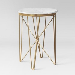 Marble Top Round Table Gold - Project 62™