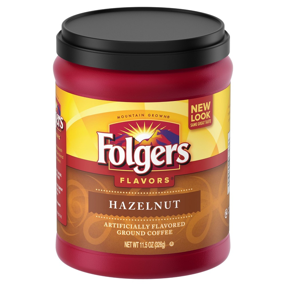 Folgers Flavors Hazelnut Mountain Grown Medium Roast Ground Coffee - 11.5oz