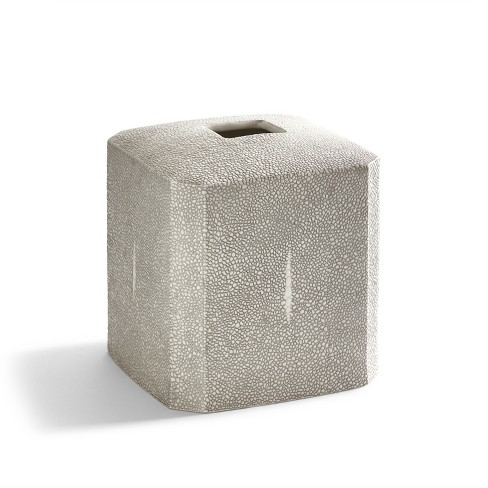 Shagreen Bathroom Coordinate Solid Porcelain Tissue Holder Gray - Kassatex® - image 1 of 1