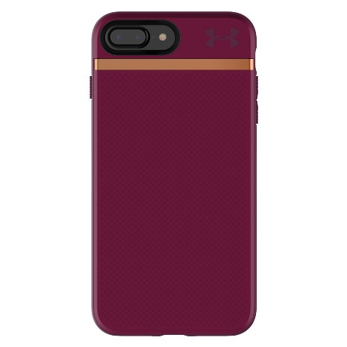 low priced 1a03b 242a7 Under Armour iPhone 8 Plus/7 Plus Case UA Stash - Maroon/Currant/Rose Gold