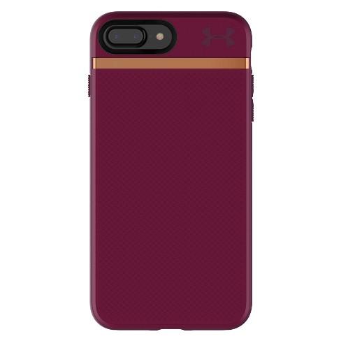 f86b71e5 Under Armour iPhone 8 Plus/7 Plus Case UA Stash - Maroon/Currant/Rose Gold