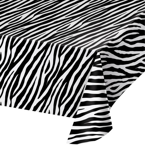Creative Converting Zebra Print Plastic Tablecloth - image 1 of 1