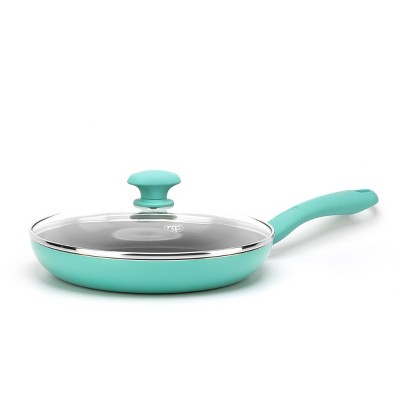 """GreenLife 11"""" Diamond Covered Frypan Turquoise"""
