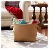 Household Essentials Round SoftSide Burlap Basket Brown - image 2 of 3