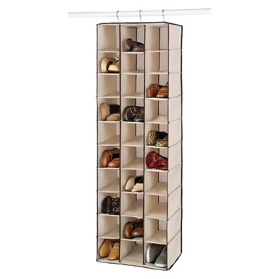 Whitmor 30 Section Hanging Shoe Shelves Brown