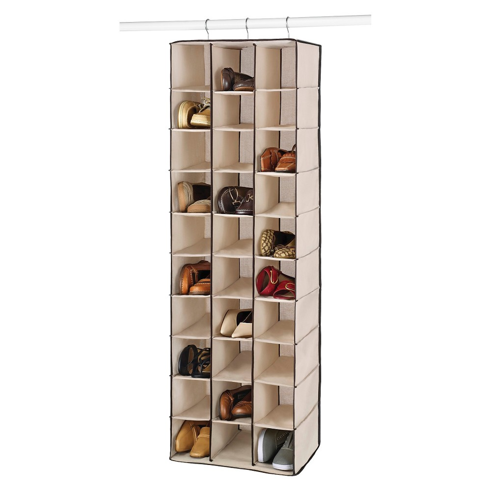 Image of Whitmor 30 Section Hanging Shoe Shelves - Brown