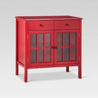 Windham Storage Cabinet with Drawer Red - Threshold™