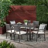 Rhode Island 7pc Rectangle All-Weather Wicker Patio Dining Set - Brown - Christopher Knight Home - image 3 of 4