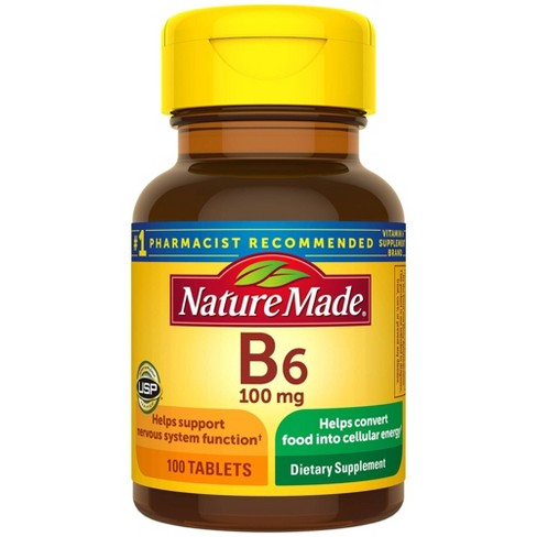 Nature Made Vitamin B6 100 Mg Tablets 100ct Target