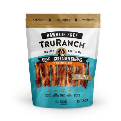 TruRanch Collagen Chicken Sticks Rawhide Free Dog Treats - 15ct