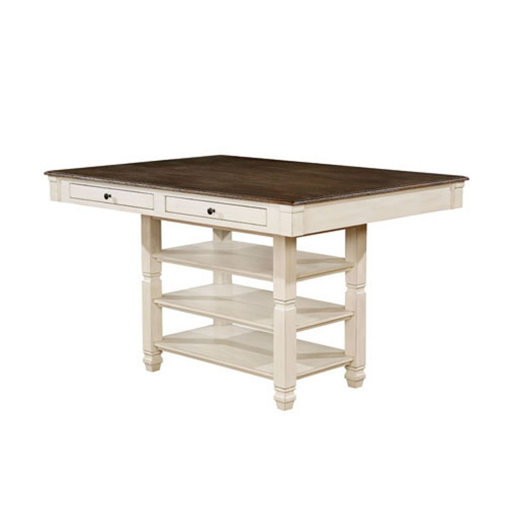 Dean Wood Counter Height Dining Table Antique White - Homes: Inside + Out