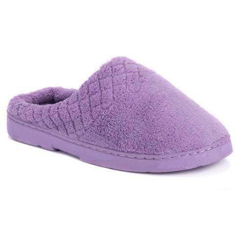 Women's MUK LUKS Chenille Clogs - Lavender L(9-10), Size: Large (9-10), Purple