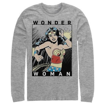 Men's Justice League Comic Poster Long Sleeve Shirt