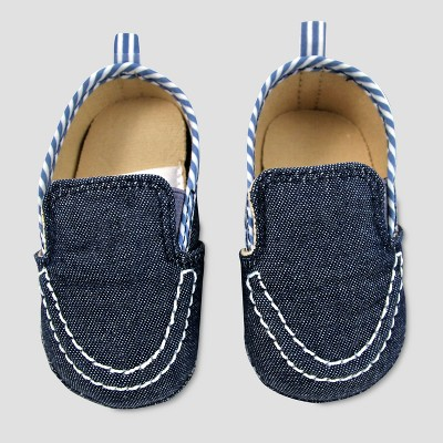 Baby Boys' Boatshoe Crib Shoes - Cat & Jack™ Blue 6-9M
