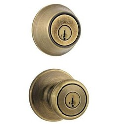 Kwikset 690TS Tylo SmartKey Single Cylinder Knobset and Deadbolt Combo Pack