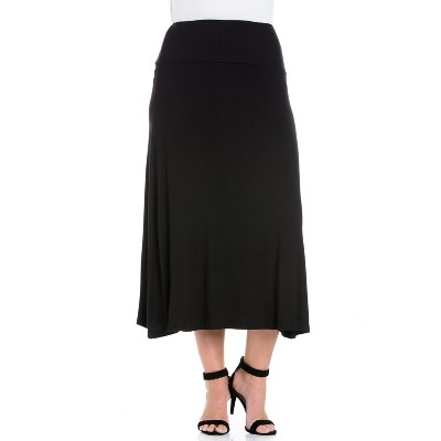 24seven Comfort Apparel Women's Plus Women's Maxi Skirt