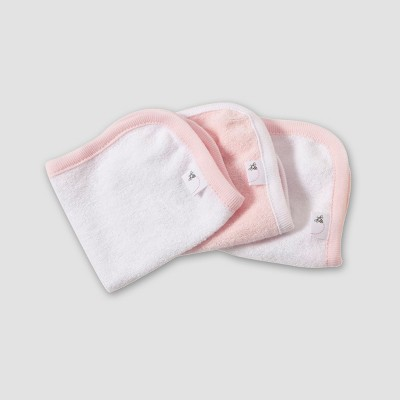 Burt's Bees Baby Organic Cotton 3pk Washcloth Set - Blossom