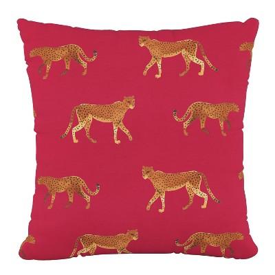 "18""x18"" Cheetah Walk Polyester Pillow - Skyline Furniture"