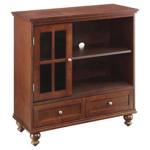 Tahoe Highboy Tv Stand Brown 36 Convenience Concepts Target