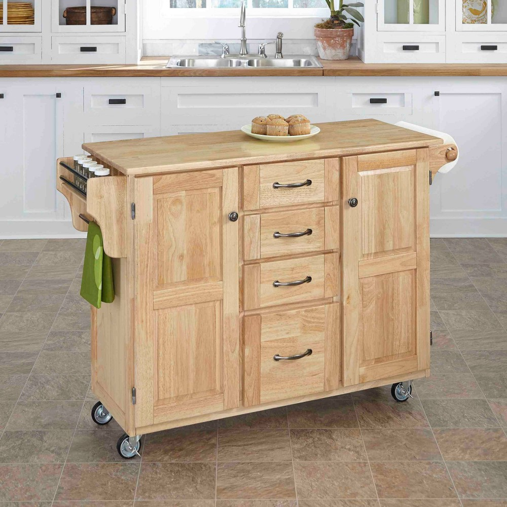 Kitchen Carts And Islands with Wood Top Natural Brown - Home Styles