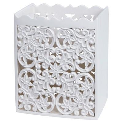 Resin Wastebasket Belle White - Creative Bath®