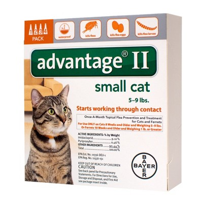 Bayer Advantage II Topical Flea Prevention and Treatment - Small Cats - 4ct